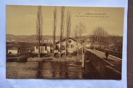 CAMBO-les-BAINS-vue Prise Vers Le Pont Et La Gare-offerte Par Chocolat Vinay-papier Glace - Cambo-les-Bains