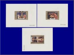 L. De Vinci - Année: 1977 - CAMEROUN,YV. PA 255/7,3 EP. DE LUXE:Tableaux*,Paques - Arts