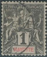 Mayotte - N° 01 (YT) N° 1 (AM) Oblitéré. - Gebraucht