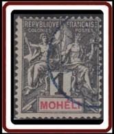 Mohéli - N° 01 (YT) N° 1 (AM) Oblitéré. - Moheli (1906-1912)