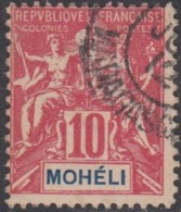 Mohéli - N° 05 (YT) N° 5 (AM) Oblitéré. - Moheli (1906-1912)