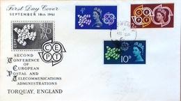 Grande-Bretagne, FDC Europa, 1963 - 1952-1971 Pre-Decimale Uitgaves