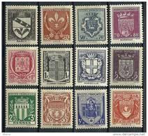 """FR YT 526 à 537 """" Armoiries De Ville """" 1941 Neuf* - Unused Stamps"""