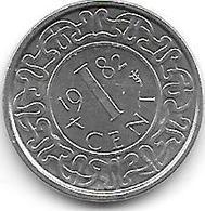 *suriname 1  Cent 1982  Km 11a Unc/ms63 - Surinam 1975 - ...