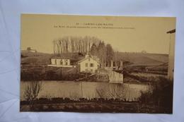 CAMBO-les-BAINS-la Nive,lepont Suspendu Pres Etablissement Thermal-offerte Par Chocolat Vinay-papier Glace - Cambo-les-Bains