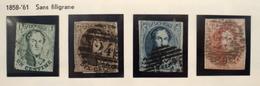 Médaillon Allongé Léopold 1er - 1861 - N° 9 à 12 - 1858-1862 Médaillons (9/12)