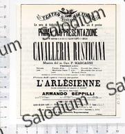 CAVALLERIA RUSTICANA TEATRO LA FENICE VENEZIA TEATHER  P. MASCAGNI  Immagine Ritagliata CROPPED IMAGE D3532 - Sin Clasificación