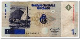 CONGO,1 FRANC,1997,(1998),P.85,F+ - Democratic Republic Of The Congo & Zaire