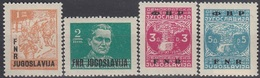 YUGOSLAVIA 601-604,unused - 1945-1992 Socialistische Federale Republiek Joegoslavië