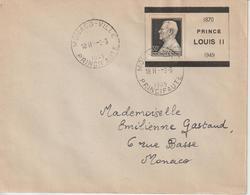 Lettre Monaco 1949 Prince Louis II 1870-1949 Cachet Rotoplan Monaco Ville - Monaco