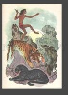087882 Mowgli & WOLF & TIGER & PANTHER Old Russia - Contes, Fables & Légendes