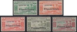 Nouvelles Hébrides - Timbres-taxe N° 21 à 25 Neufs *. 24 & 25 Tache De Rouille. - Portomarken