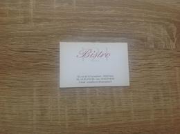 Carte De Visite De Bistro Brasserie     Bistro   Paris 15eme - Cartoncini Da Visita