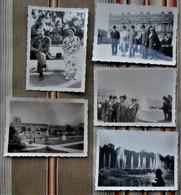 Lot De 5 Photos Allemande 75 PARIS VERSAILLE 1937 - Places