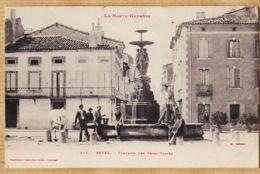 X31153 REVEL (31) Fontaine Des TROIS GRACES 3 Animation Villageoise 1900s Cliché JANSOU LABOUCHE 215 - Revel