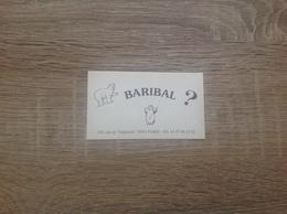 Carte De Visite De Brasserie Restaurant   Le Barribal   Paris 15eme - Cartoncini Da Visita