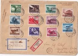 ALLEMAGNE 1944 LETTRE RECOMMANDEE DE LUDWIGSHAFEN AVEC CACHET ARRIVEE  MQANNHEIM - Briefe U. Dokumente
