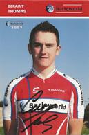 VARTE CYCLISME GERAINT THOMAS SIGNEE TEAM BARLOWORLD 2007 - Ciclismo