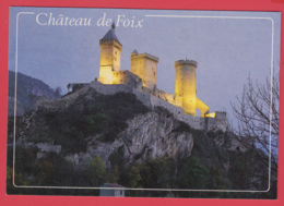 CPM- 09- FOIX - Le CHÂTEAU  Illuminé SUP* 2 SCAN- - Foix