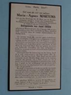 DP Marie-Agnes MARTENS ( Jozef Croes ) Wimmertingen 2 Jan 1880 - Alken 6 Juli 1937 ! - Décès