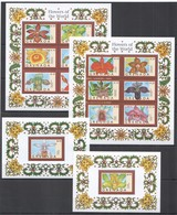 E626 GRENADA FLORA NATURE FLOWERS OF THE WORLD !!! 2KB+2BL MNH - Vegetales