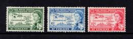SAINT  VINCENT    1958    British  Carribean  Federation    Set  Of  3    MH - St.Vincent (...-1979)