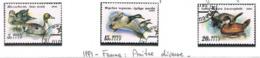 URSS - SG 6264.6266  - 1991 BIRDS: DUCKS (COMPLET SET OF 3)    - USED - RIF.CP - Usati