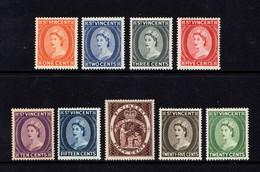 SAINT  VINCENT    1964    Queen  Elizabeth  II    Set  Of  9    MH - St.Vincent (...-1979)