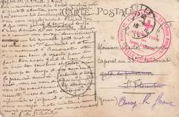 Cachet Militaire 1916 Croix Rouge Hopital Auxiliaire N°201 Vieille Prefecture Tulle Correze Association Dames Françaises - Guerre De 1914-18