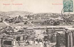Afrique Erythrée Saganeiti Via Principale Segeneiti Vue + Timbre Surchargé Colonia Eritrea Taxe Taxee - Erythrée