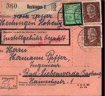 ! 1934 Paketkarte Deutsches Reich, Hechingen Nach Bad Liebenwerda - Briefe U. Dokumente