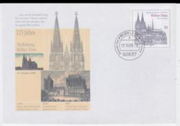 Germany Postal Stationary Kölner Dom W/print 125 J Kölner Dom Used Weiden 2005 (G108-4) - Sobres Privados - Usados