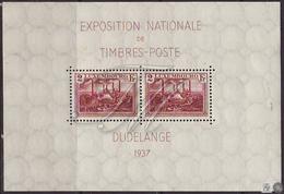 Luxemburgo 1937  Yvert Tellier Nº  2 (*) Exposición Filatélica De Dudelange - Nuevos