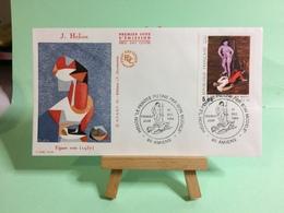 J.Hélion ( Figure Rose) - 80 Amiens- 1.12.1984 - FDC 1er Jour Coté ..€ - FDC