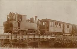 -themes Div.-ref-DD594 -carte Photo - Allemagne -chemin De Fer - Locomotive Train Economique A Vernsauhsen - Treinen
