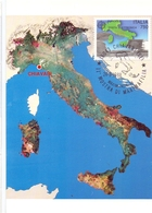 ITALIA VISTA DALLO SPAZIO MOSTRA DI MAXIMAFILIA  1988 MAXIMUM POST CARD (GENN200523) - Geografia