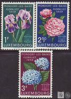 Luxemburgo 1959 Correo 564/66 ** Flores De Mondorf-les-Bains (3v) - Luxemburgo
