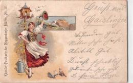 Litho 1898 Künstler Postkarte Der Meggendorfer Blätter Nr.15 - Verlag Von J.P Schreiber - Sin Clasificación