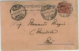 LA SPEZIA VIANI DOMENICO VINI OLII SALUMI 1920 - La Spezia