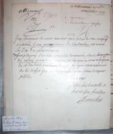 Manuscrit 1731 Portant Sur Un Soldat Mort Et Un Deserteur - Manuscripts