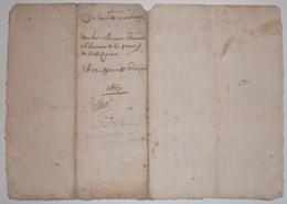 Manuscrit 1667 Contrat De Mariage - Manuscripts