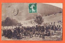Nw896 Carte-Photo Localisable 05-HAUTES-ALPES Régiment CHASSEURS ALPINS La Pause 11-07-1907 à Noëlie LAPEYRE Toulouse - Zonder Classificatie