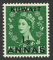 Kuwait, 1 1/2 A. On 1 1/2 P. 1956, Sc # 122, Mi # 113, MH. - Kuwait