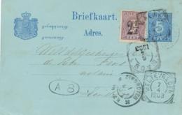 Nederlands Indië - 1903 - 5 Cent Briefkaart + 2,5 Op 3 Cent Cijfer Van VK Malang Via Maos Naar Eindhoven / Nederland - Indes Néerlandaises
