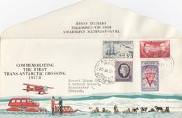 ROSS DEPENDENCY. COMMEMORATING THE FIRST TRANS-ANTARTIC CROSSING 1957-8. ANTARCTIC MEETING SCOTT BASE  / 5180 - Brieven En Documenten