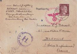 """ALLEMAGNE : GUERRE . CP . DU CAMP DE CONCENTRATION DE """" SACHSENHASEN ORIANENBURG """" . CENSUREE . 1943 . - Germany"""