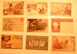 CPA / Lot De 9 Cartes Postales Publicitaires / LESSIVE Lavandières Blanchisseuses - Advertising