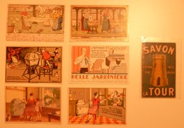 CPA / Lot De 7 Cartes Postales Publicitaires / LESSIVE Lavandières Blanchisseuses - Advertising