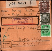 ! 1934  Paketkarte Deutsches Reich, Zeitz Nach Roßla - Deutschland