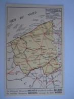 Géografische Kaart Carte Géographique West-Vlaanderen Flandre Occid. Reclame Pub Margarine Brunita Is Geplakt Geweest - Sin Clasificación